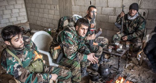 Pause des soldats syriens/archives