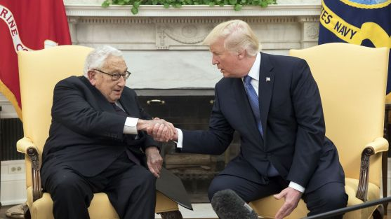 US President Donald J. Trump hosts former Secretary of State Henry Kissinger, Washington, USA - 10 Oct 2017
